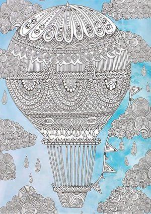 Раскраска с Воздушным шаром
