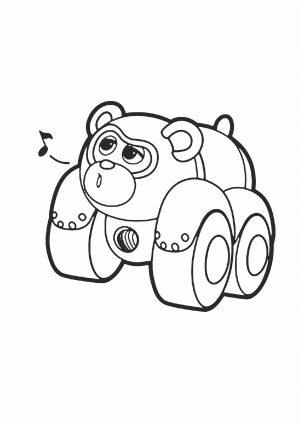 Раскраска панда ПиТи