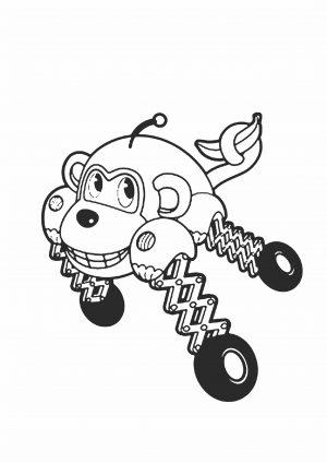 Раскраска Врумиз обезьянка Банги