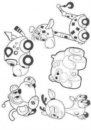Раскраска Врумиз с друзьями гепарда Спиди