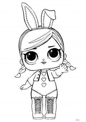 "Раскраска ""Кукла ЛОЛ"" в костюме зайчика"