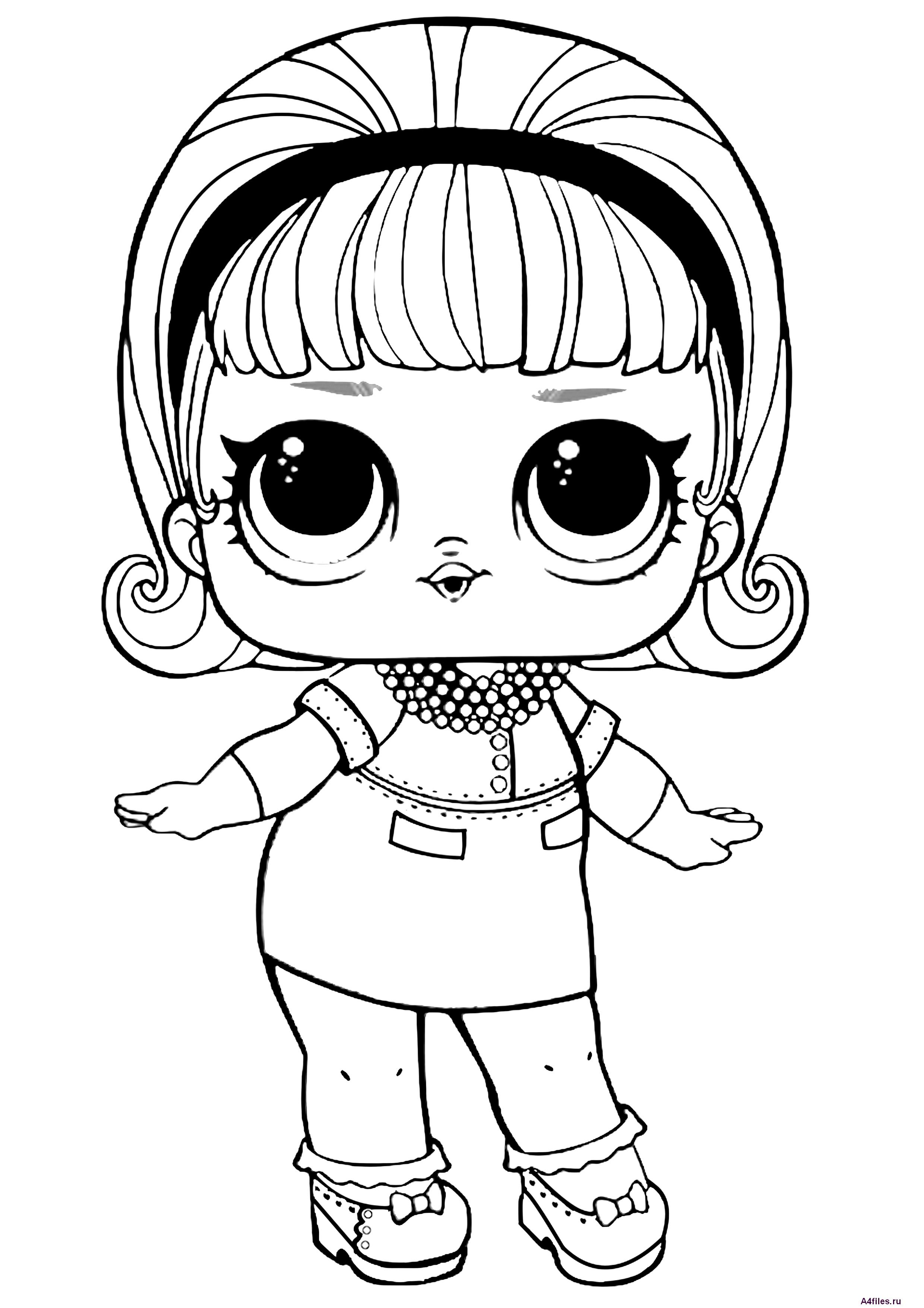 "Раскраска ""Кукла ЛОЛ"" 3 серия - Раскраски А4 формата для ..."