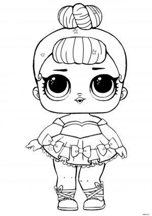 Кукла ЛОЛ в платье - раскраска для девочек
